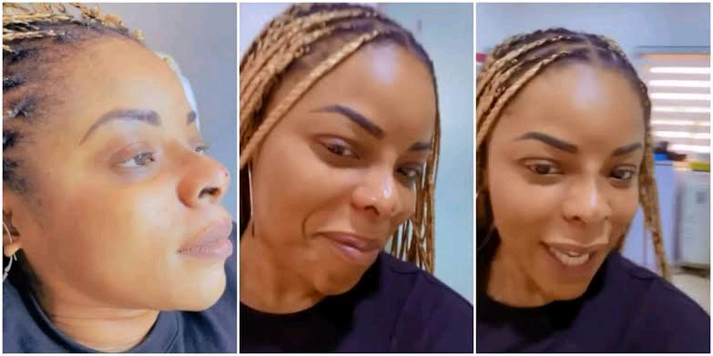 Laura Ikeji Undergoes Surgery; Flaunts New Pointed Nose