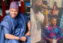 Davido Gifts Yinka Ayefele N1M On Stage (Video)