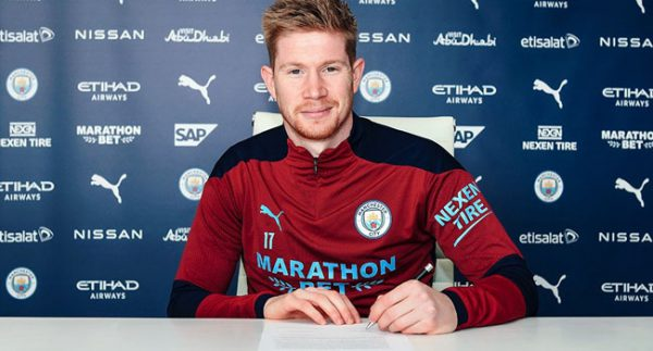Kevin De Bruyne Extends Contract With Man City
