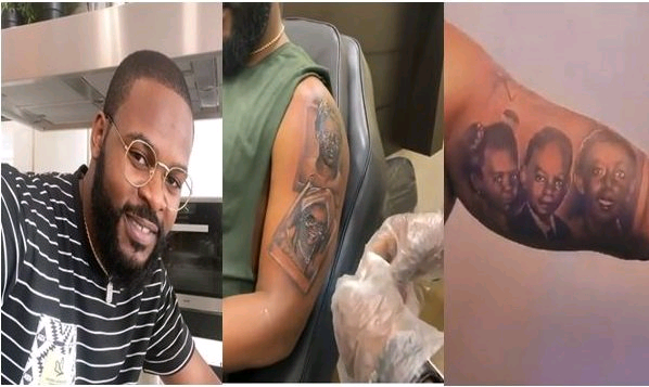 Falz Tattoos His Entire Family On His Arm