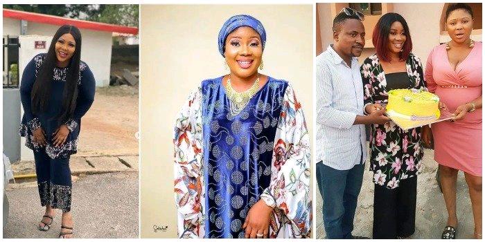Actor Segun Ogungbe's Second Wife, Omowunmi Ajiboye Celebrates His First Wife As She Clocks 44