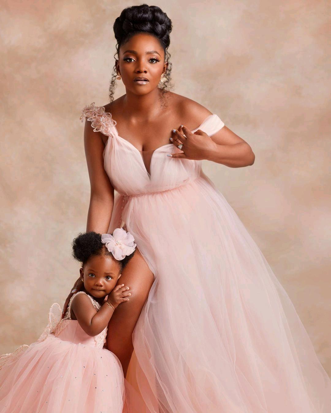 Simi, Adekunle Gold Unveil Daughter's Face As She Clocks 1