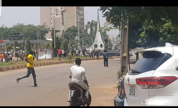 Thugs disrupt protest in Kaduna