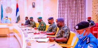 Buhari Presides Over Security Meeting At Aso Villa