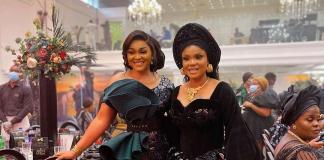 Iyabo Ojo, Mercy Aigbe Reconcile At Toyin Lawani's Wedding