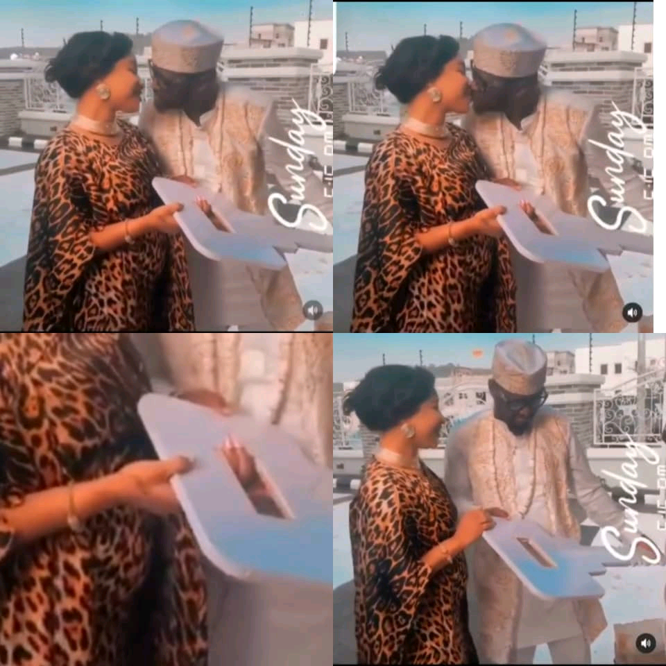 Tonto Dikeh Gifts Her New Man A Car For His Birthday