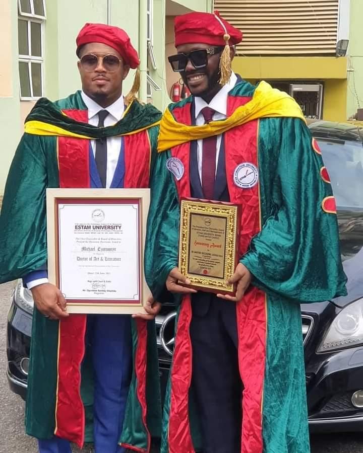 Singer J Martins, Actor Mike Ezuruonye Bag Doctorate Degree
