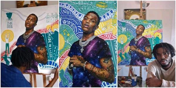 Wizkid Reacts As Fan Creates Portrait 6Of Him