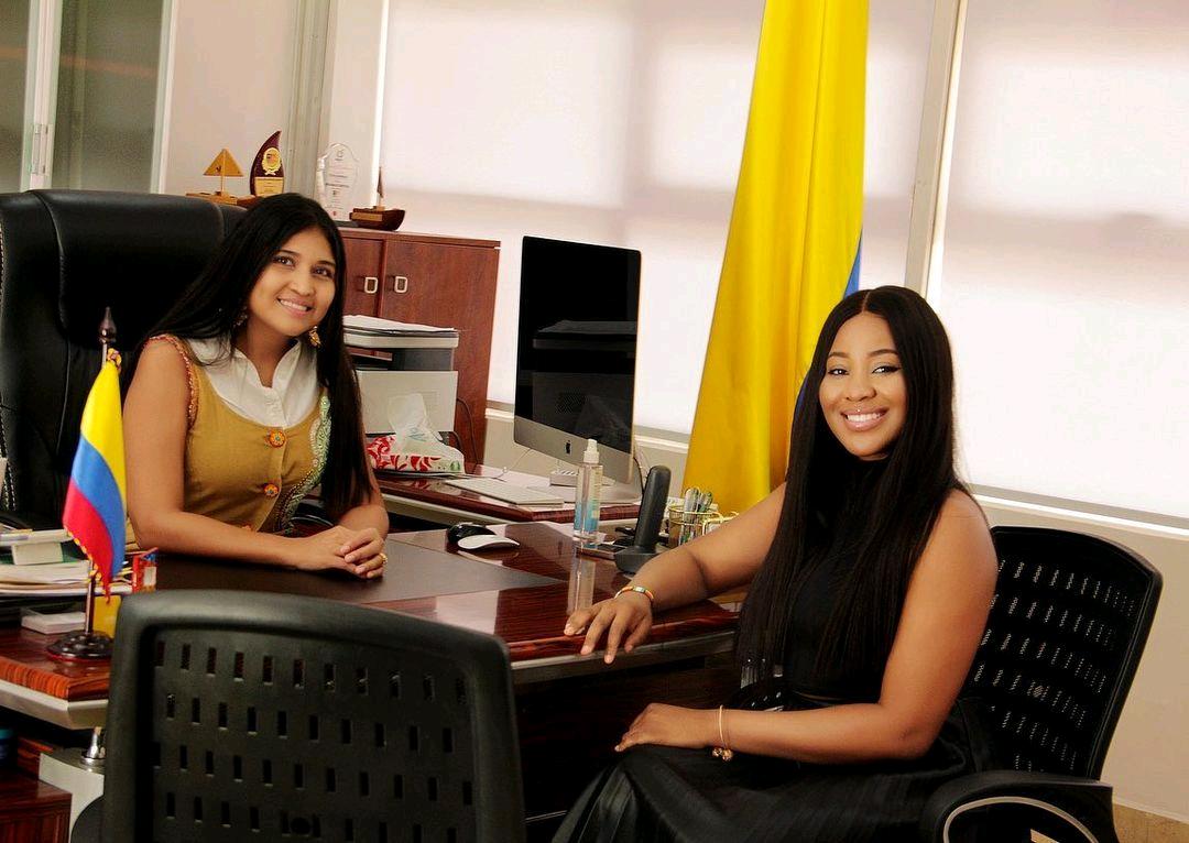 BBNaija's Erica Pays Visit To Consul Of Colombia To Nigeria