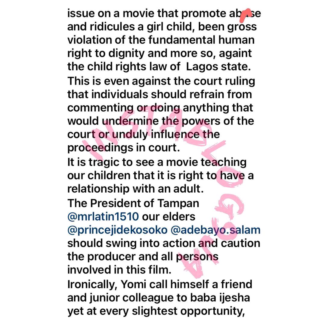 Iyabo Ojo Reacts To Yomi Fabiyi's Movie, 'Oko Iyabo'