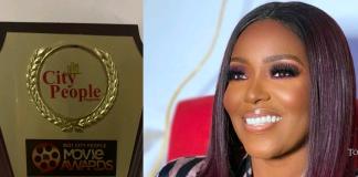 Actress Biola Adebayo Bags Face Of Nollywood Award