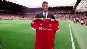 Manchester United Sign Varane On Four-Year Deal