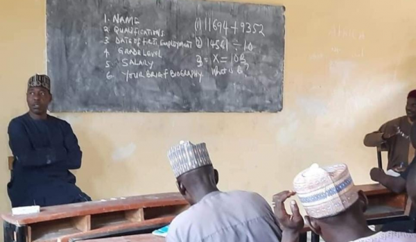 Panic As Borno Governor Conducts Impromptu Test For Teachers