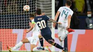 Messi Scores First Goal For PSG Against Man City