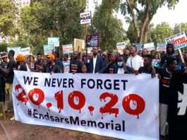 #EndSARS Memorial: Nigerians Demand Justice For Victims Of Police Brutality, Tollgate Shootings One Year After